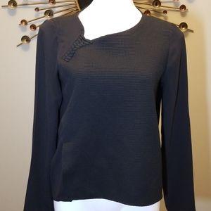 Zara Basic Black Long Sleeve Blouse